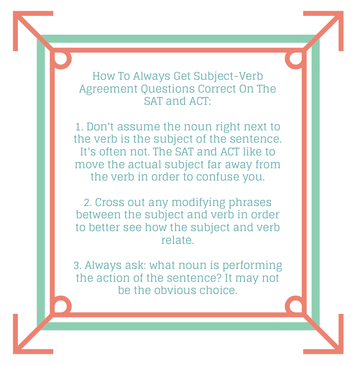 How The Sat And Act Make You Miss Subject Verb Agreement Questions